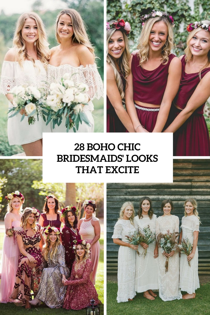 boho chic bridesmaids' looks that excite cover
