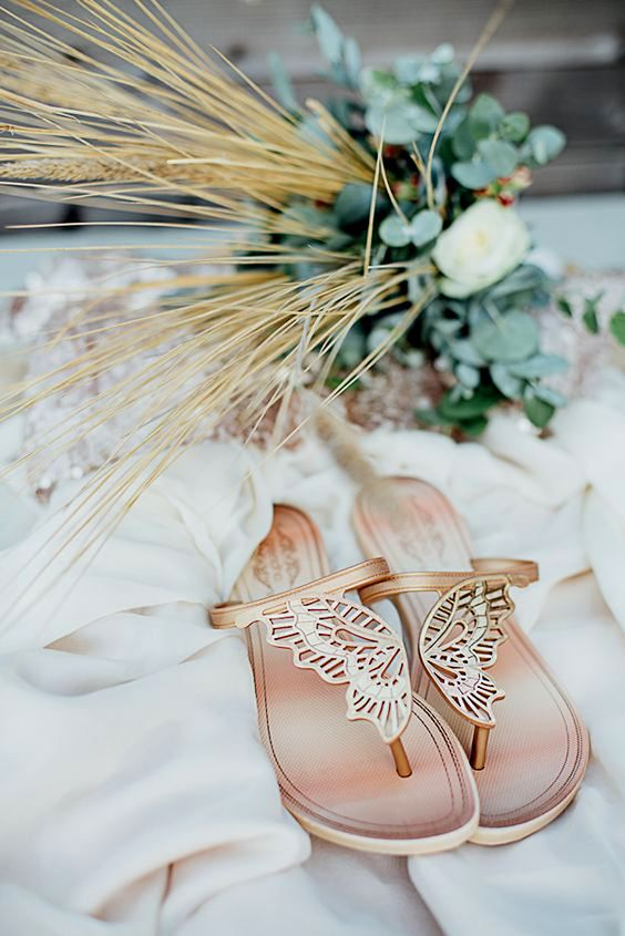 thong sandals with burtterfly wings look unique and like no other