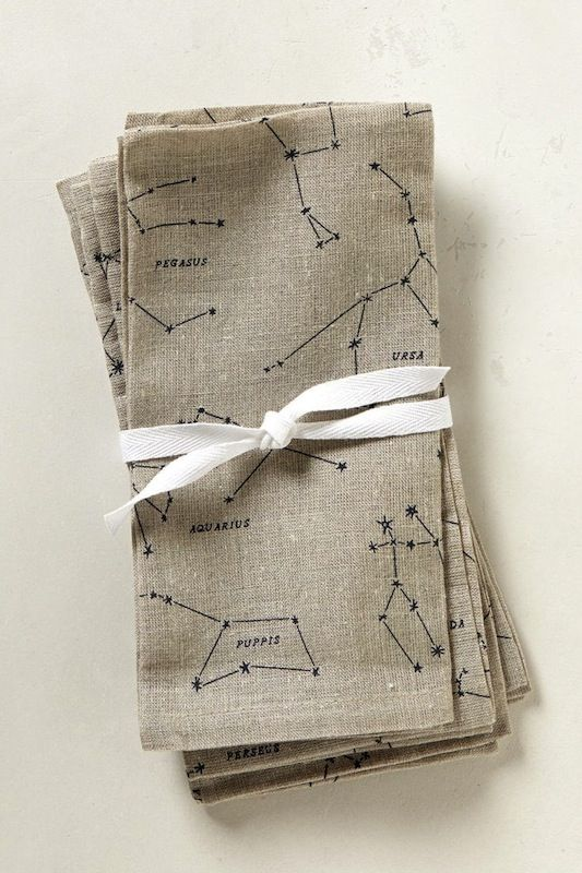 simple constellation napkins