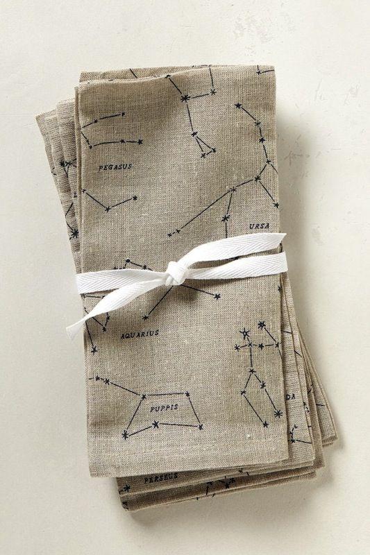 simple constellation napkins