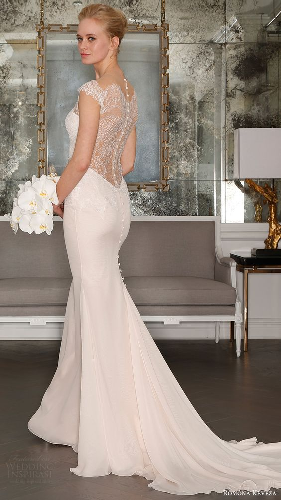 30 beautiful wedding dresses with cap sleeves weddingomania
