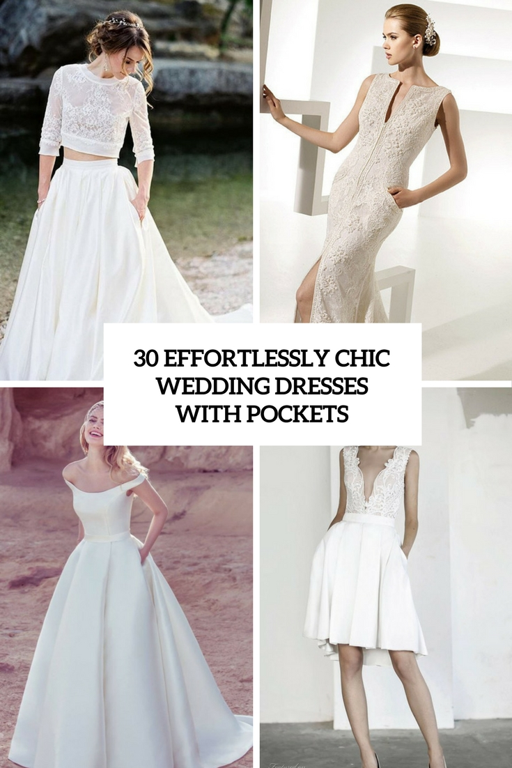 30 effortlessly chic wedding dresses with pockets weddingomania 30 effortlessly chic wedding dresses with pockets ombrellifo Image collections