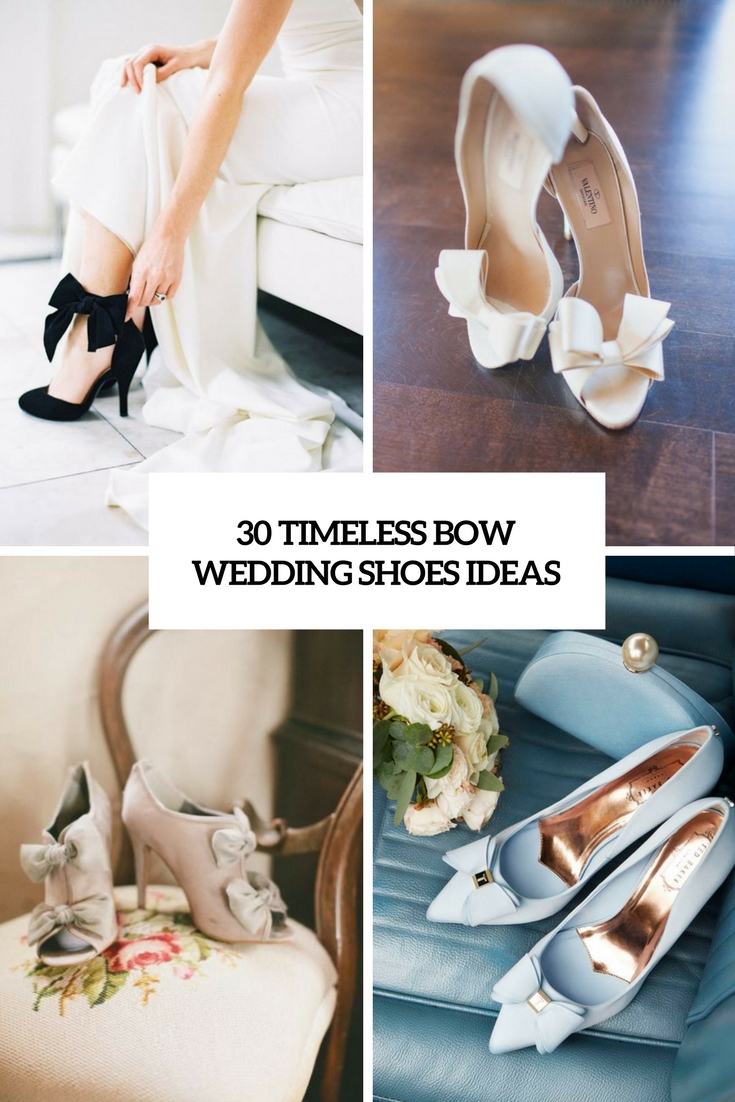 timeless bow wedding shoes ideas cover