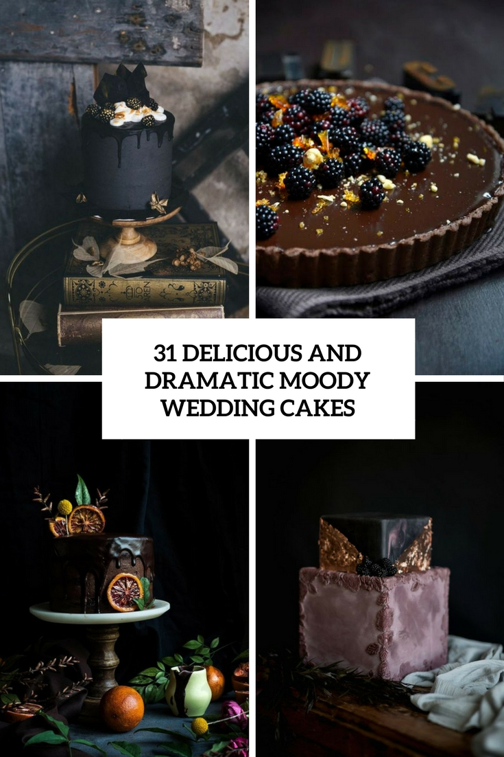 31 Delicious And Dramatic Moody Wedding Cakes