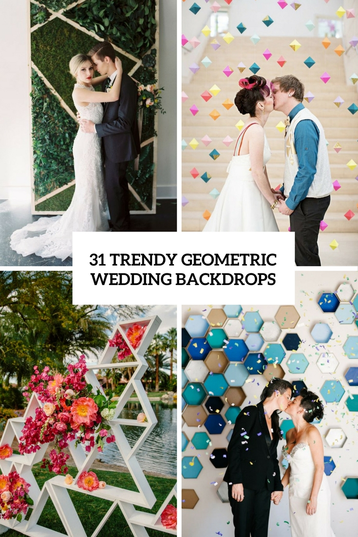 31 Trendy Geometric Wedding Backdrops