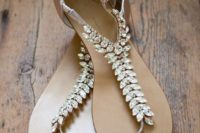 32 comfy crystal wedding sandals to add a sparkly touch to your look