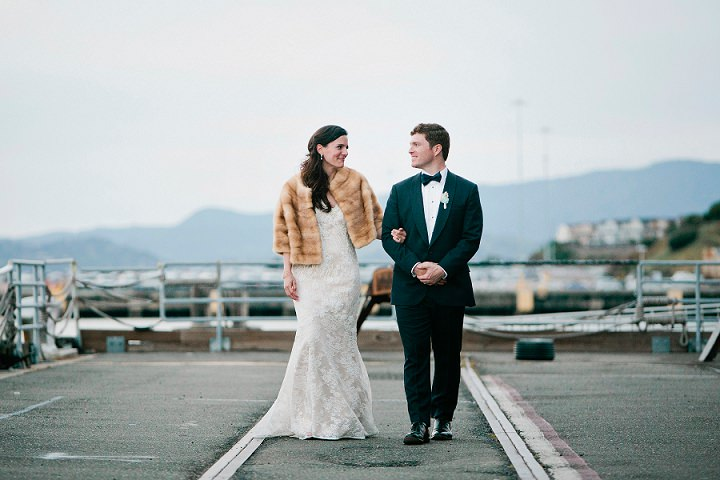 This couple dared to invite 400 guests for their warehouse wedding and they rocked it with style and chic