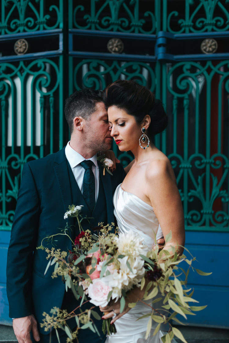 This elegant fall wedding took place in London, though many guests came from abroad