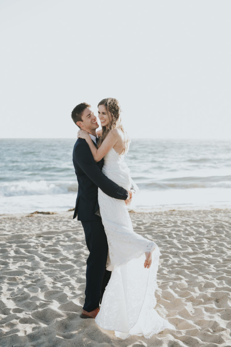 All White Relaxed Malibu Beach Wedding