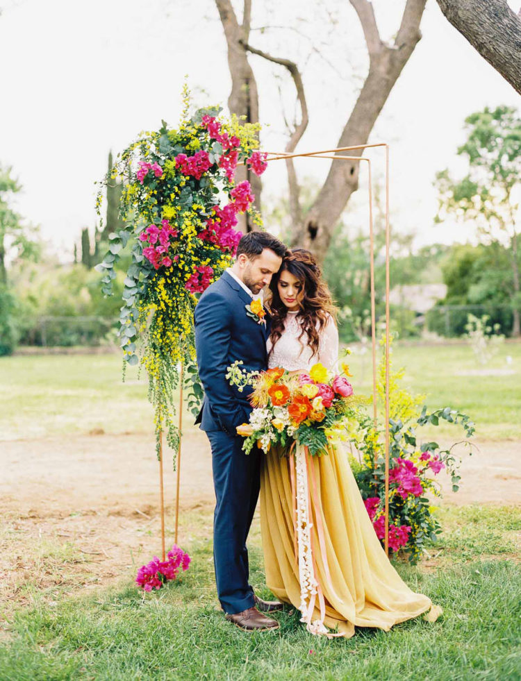 Neon boho wedding shoot with refined details weddingomania this wedding shoot was done in bold neon colors with refined boho touches and impeccable taste junglespirit Choice Image