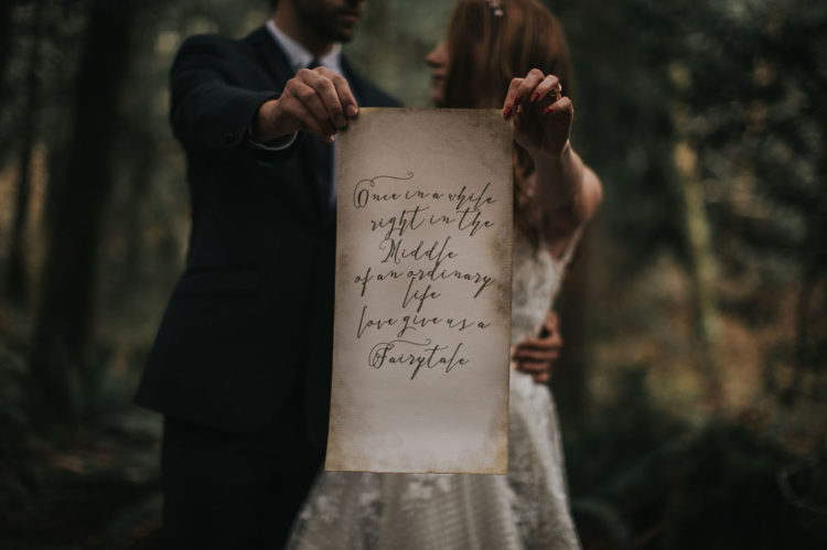The feel of this shoot is magical, even this calligraphy looks like from a fairy-tale