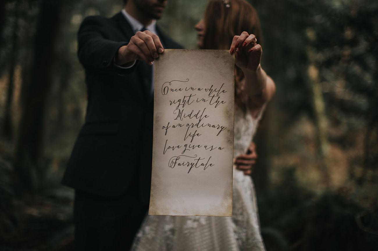 gorgeous wedding caligraphy