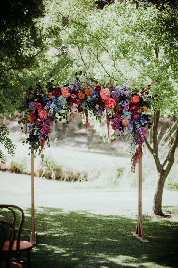 The bold floral arch created an ambience, it's a bold decoration that can inspire you too