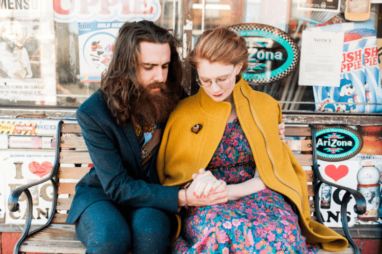 This couple is dressed and styled in a very whimsy way