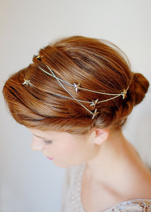 starry hair chain is a great and trendy accessory