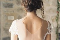 12 messy curly wedding updo is a natural and chic choice