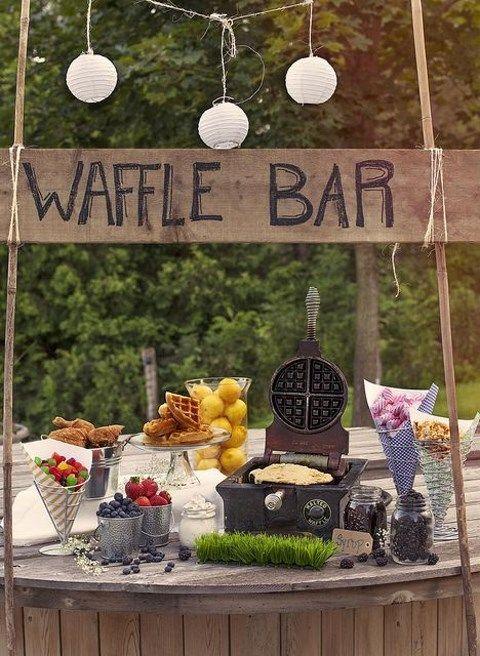 eine Waffel-bar ist eine weitere tolle Idee für pimp your friends, es ist eher eine budget-freundliche