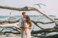 17 driftwood is another great idea to use as a backdrop