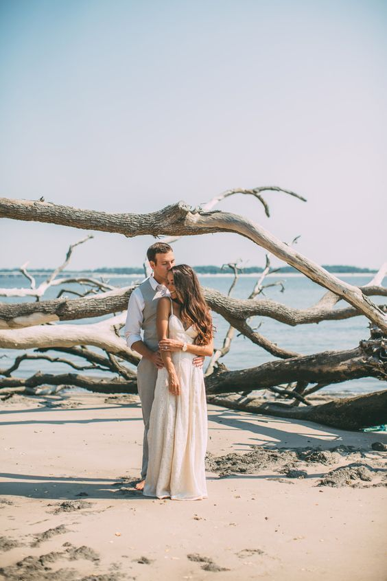 driftwood is another great idea to use as a backdrop