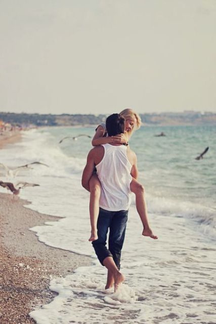 let him carry you for fun walking on the water