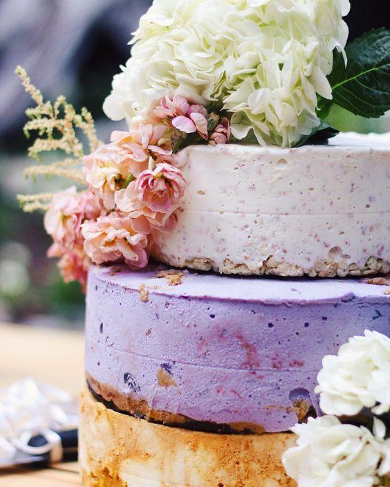 ice cream wedding cake with layers of different ice cream