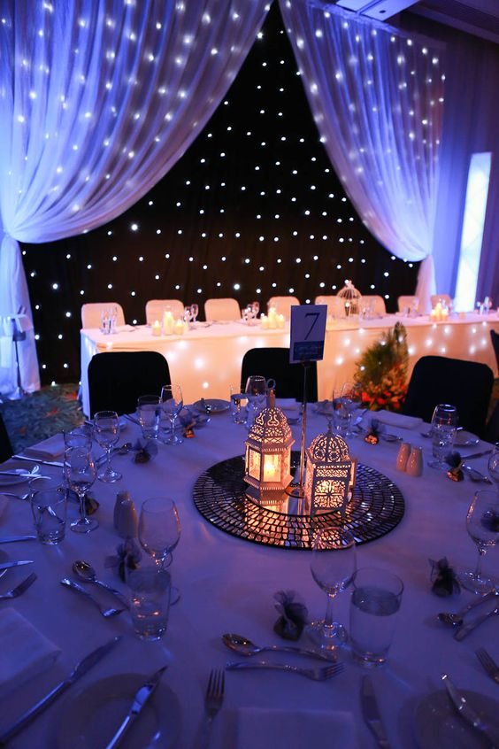 such lights look really starry and make your venue very inviting