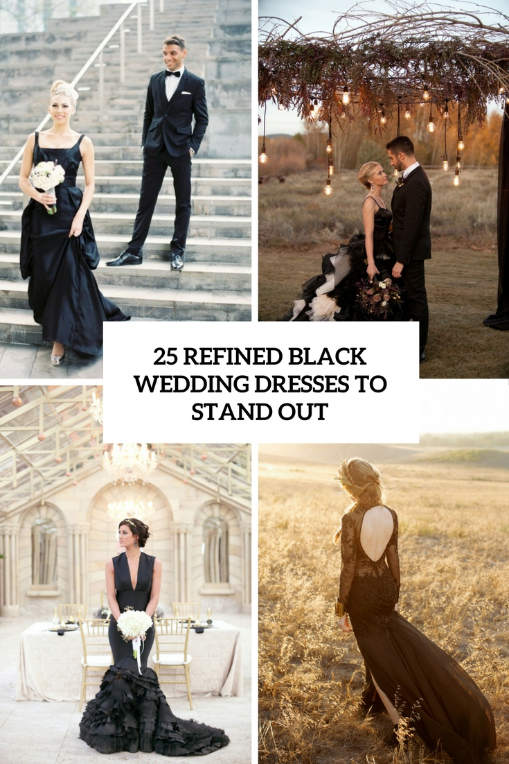 refined black wedding dresses to stand out cover