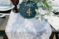 25 stargazer inspired table runner and a starry table number