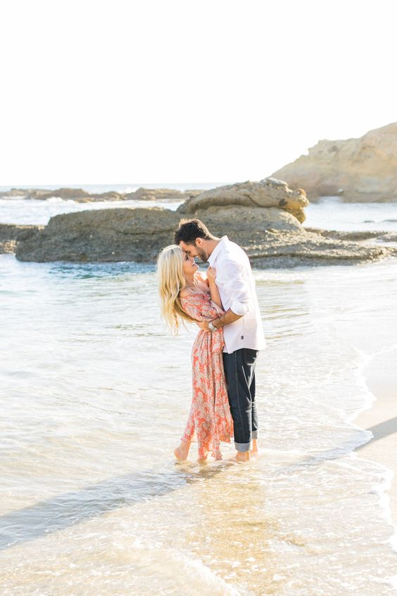 walk together in the water and make some adorable shots