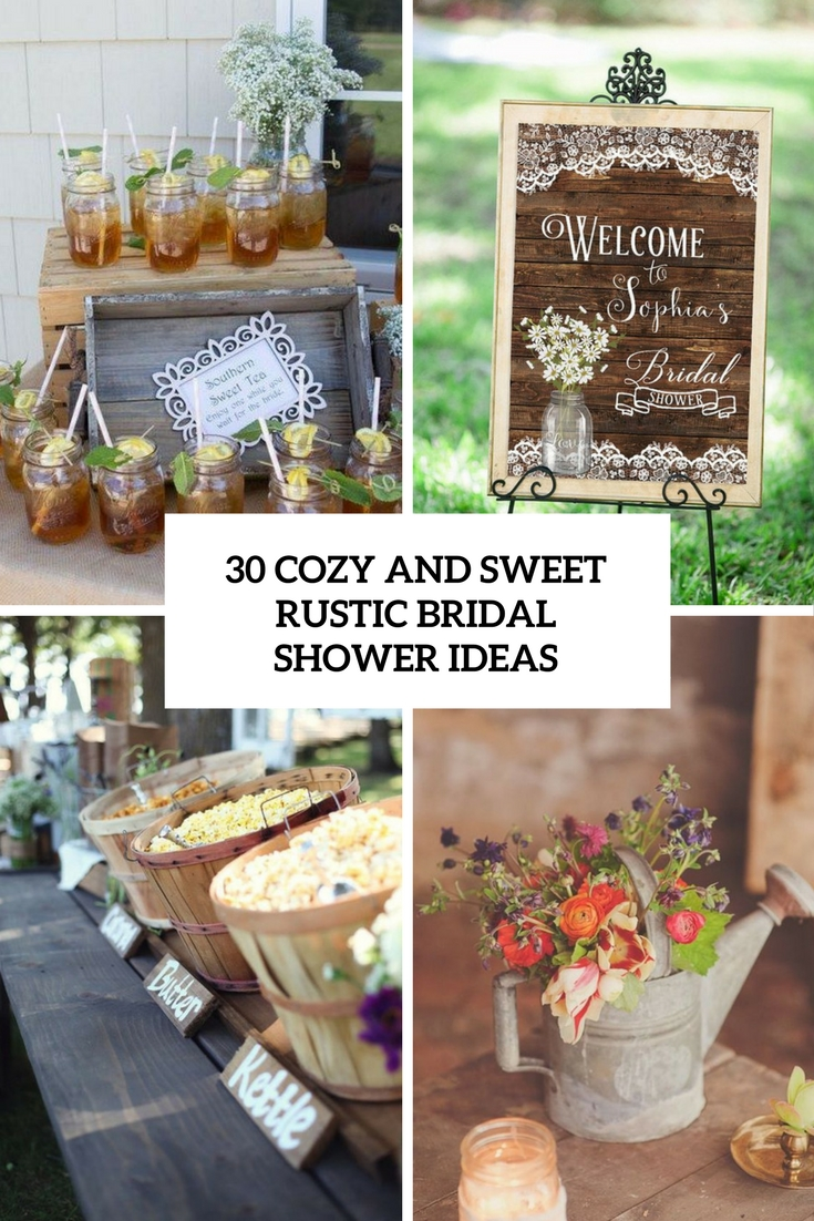 cozy and sweet rustic bridal shower ideas cover