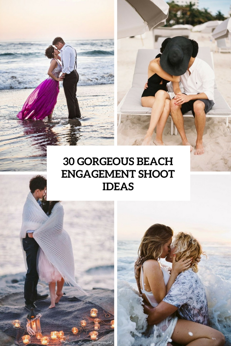 gorgeous beach engagement shoot ideas cover