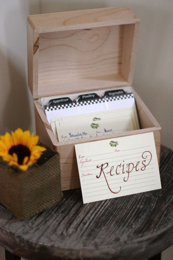 a recipe box is another great activity that will give you many cool dish ideas