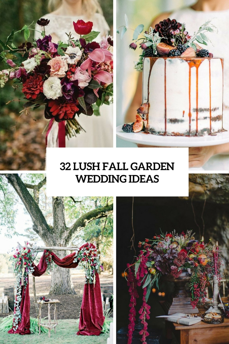 lush fall garden wedding ideas cover