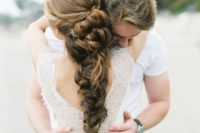 33 long braided wedding hair with a volume and no accessories
