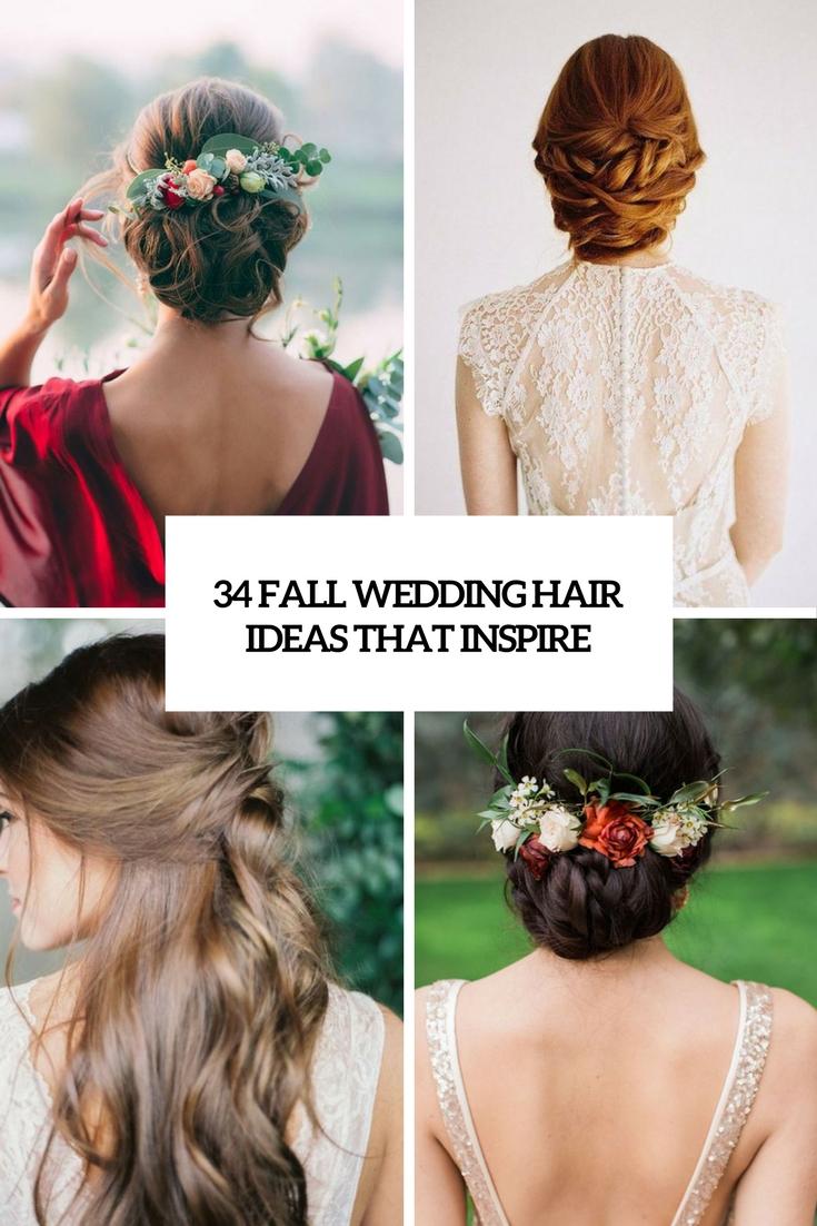 34 Fall Wedding Hair Ideas That Inspire