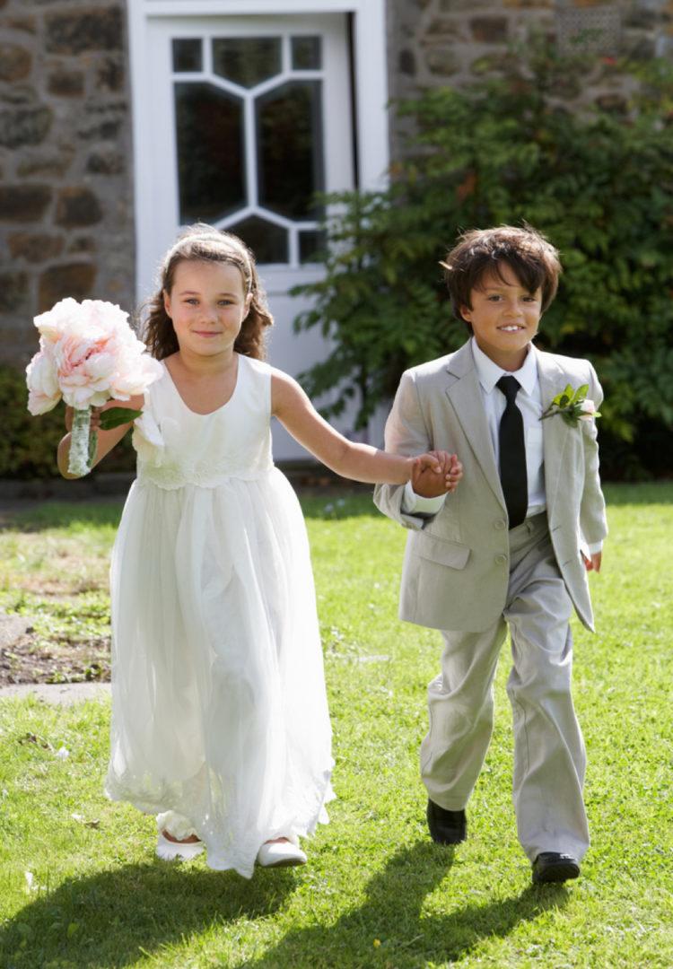 children on a wedding