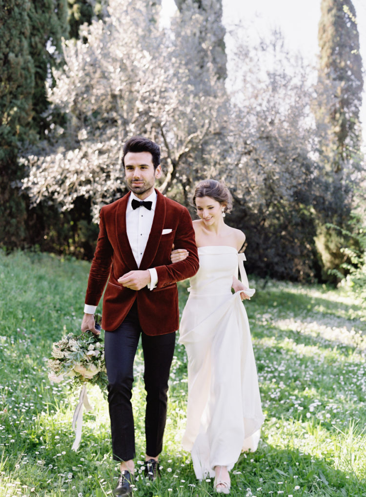 This beautiful wedding shoot combined details of French and Italian wedding decor at their best