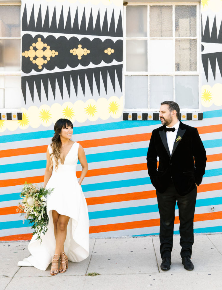 Totally Different And Cheerful Urban LA Wedding