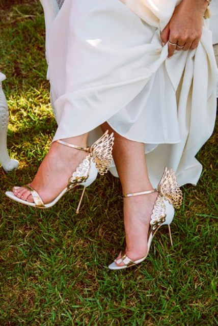 Her unique winged shoes are heavenly beautiful