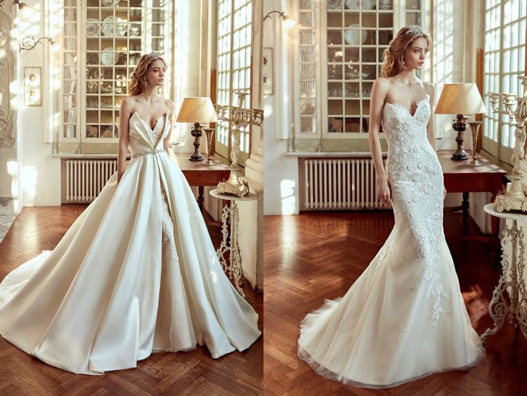 26 beautiful convertible wedding dresses weddingomania a lace mermaid wedding dress and a plain cover for the whole dress not only junglespirit Image collections