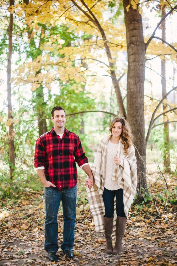 24 Gemütliche Und Süße Fallen Engagement-Shooting Ideen