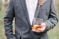 classy tweed jacket look
