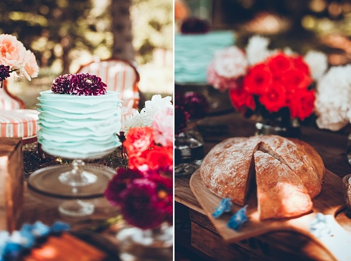 The was also handmade bread on display, what can be better for a boho wedding
