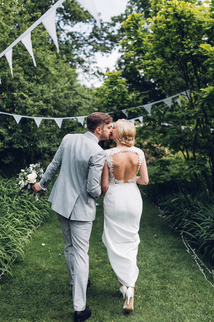 The wedding felt summer, and it was a mix of garden and woodland touches