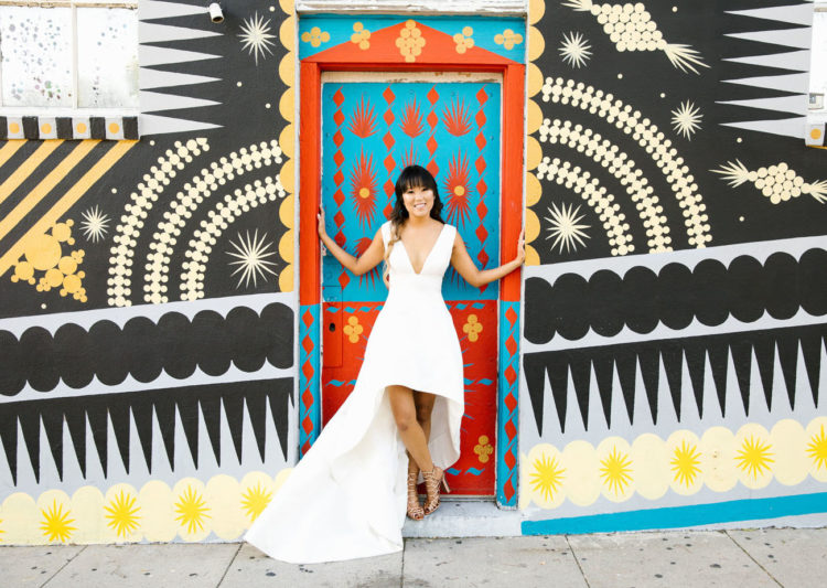 There's nothing like the streets of LA to make your wedding photos POP