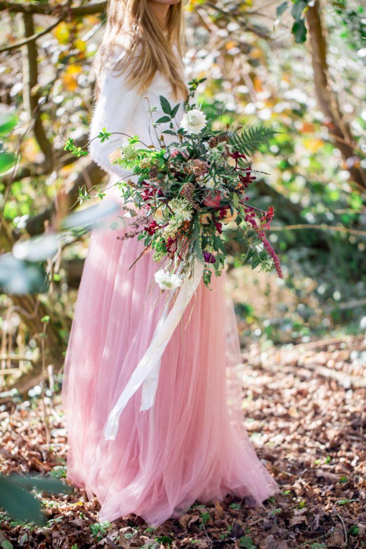 Der Hochzeits-Blumenstrauß vorgestellten textur, Bewegung und viele Coole grün