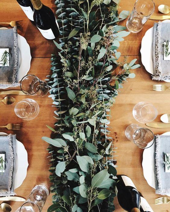 Eukalyptus ist immer eine win-win-Idee für jede jahreszeit und Hochzeit-Stil