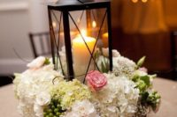 rustic box centerpiece