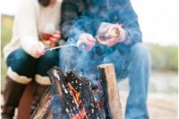 15 make a campfire and some s'mores, nothing is cozier and cooler than that