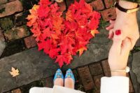 22 beautiful maple leaf heart looks bold and adorable, what can be cuter